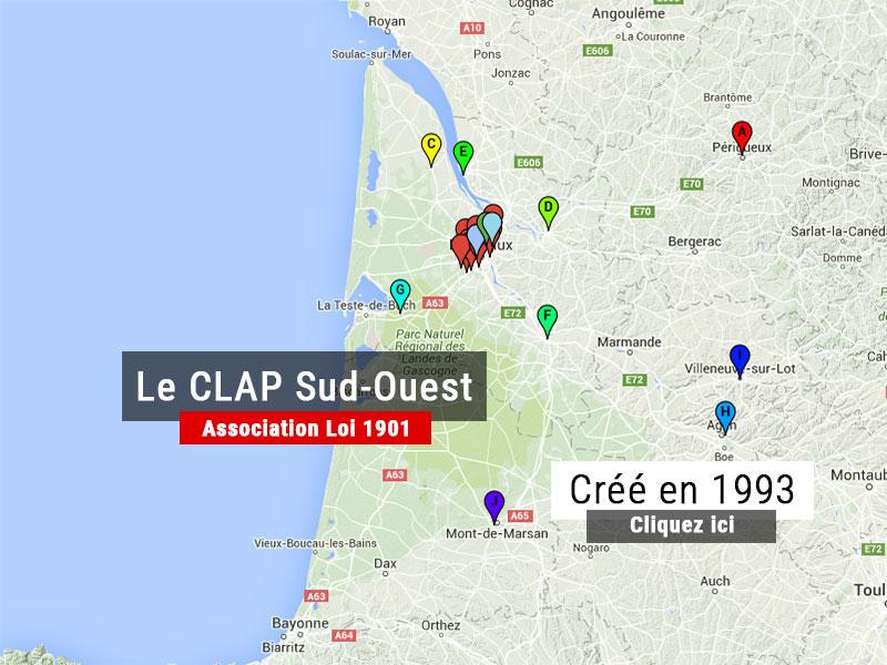 Carte CLAP Sud-Ouest
