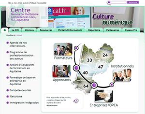 Site du CRI Aquitaine